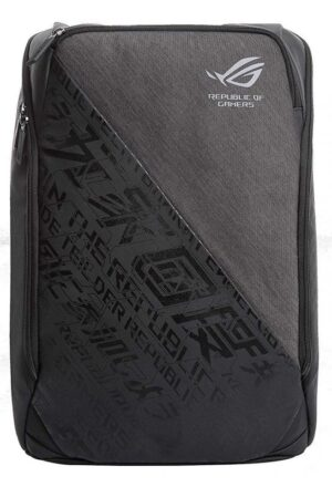 ASUS BP1502G ROG BACKPACK Black with Stylised Grey Design, Mesh Backrest, 300x460x145 With Notebook Compartment, Polyester, Water Repellent