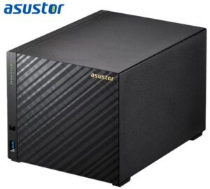 Asustor AS1004T v2 4 Bay NAS Marvell ARMADA-385 Dual Core 512MB DDR3 1xGbE 2xUSB3.0 WoL System Sleep Mode LS