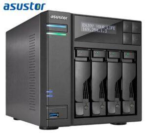Asustor AS7004T-i3 4 Bay NAS Intel Core i3 Dual Core 3.5GHz 2GB DDR3 2xGbE HDMI S/PDIF 3xUSB3.0 2xUSB2.0 2xeSATA WoL Virtualization Windows/Linux ACL