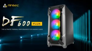 Antec DF600 FLUX High Airflow, ATX, Tempered Glass with 3x ARGB Fans Front, 1x Rear, 1x PSU Shell (Reverse Fan blade) preinstalled. Gaming Case