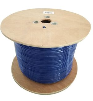 8Ware 350m Cat6 Cable Roll Blue Bare Copper Twisted Core PVC Jacket