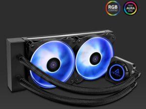 Antec Kuhler K240 RGB All in One CPU Liquid Cooler, LGA 115x, 1200, 2066, 2011, 115x AMx, FMx. 3 Yr warranty