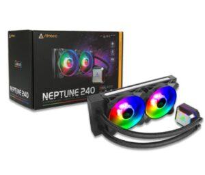 Antec Neptune 240mm ARGB Advanced Liquid CPU Cooler, PWM LED Fan, PTFE Tubing, LGA 115x, 1200, 2011-v3, 2066, AM4, AM3+ FMx, TR4, 3 Yrs Warranty