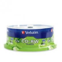 Verbatim CD-RW 700MB 25Pk Spindle 12x