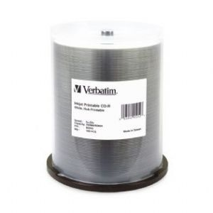 Verbatim CD-R 700MB 100Pk White Wide InkJet 52x