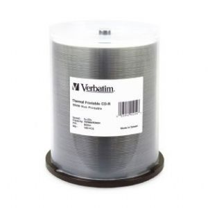 Verbatim CD-R 700MB 100Pk White Wide Thermal 52x - 95254