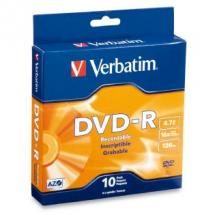 Verbatim DVD-R 4.7GB 10Pk Spindle 16x