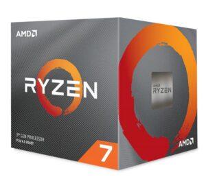 AMD Ryzen 7 3800X, 8 Core AM4 CPU, 3.9GHz 4MB 105W w/Wraith Prism Cooler Fan (AMDCPU)