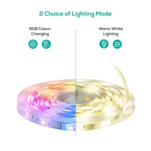 mbeat activiva 2m IP65 Smart RGB & Warm White LED Strip Light, Waterfoof, Smart LED Light, Waterproof, Ideal for Home Customisation