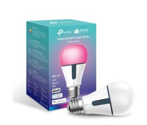 TP-Link KL130 Kasa Smart Light Bulb, Edison Screw, Multicolour, No Hub Required, Voice Control, 2500K-9000K, 800lm, 10W, 2.4 GHz, 2 Year Warranty