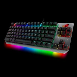 ASUS ROG STRIX SCOPE TKL/RD Wired Mechanical RGB Gaming Keyboard For FPS Games, Cherry MX Switches, Aluminum Frame, Aura Sync Lighting