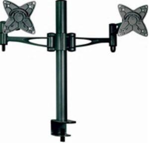 Astrotek Dual Monitor Arm Desk Mount Stand 36cm for 2 LCD Displays 21.5' 22' 23.6' 24' 27' 15kg 30° tilt 180° swivel 360° rotate VESA 75x75 100x100
