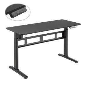 Brateck Stylish Single-Motor Sit- Stand Desk 1400x600x740~1200mm - Black