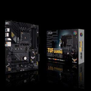 ASUS AMD B550 TUF GAMING B550-PLUS (Ryzen AM4) ATX Gaming MB, PCIe 4.0, Dual M.2, 10 DrMOS Power Stages, 2.5Gb LAN, HDMI, DP