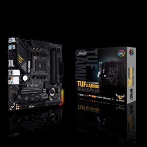 ASUS AMD B550 TUF GAMING B550M-PLUS (Ryzen AM4) mATX Gaming MB, PCIe 4.0, Dual M.2, 10 DrMOS Power Stages, 2.5Gb LAN, HDMI, DP