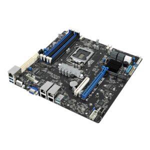 ASUS P11C-M/4L Workstation Motherboard, LGA1151, E-2200, mATX, 4 x DIMM, Dual M.2 , TPM, 6 x SATA, USB 3.1 , 4 x Gbe