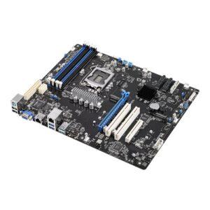 ASUS P11C-X Workstation MotherBoard, LGA1151, E-2200,  ATX, Dual M.2, USB 3.1, 2 x Gbe, Intel C242 , 6 x SATA, 4 x DIMM