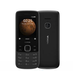 Nokia 225 4G Black- 2.4' Display, Unisoc T117 CPU, 64MB ROM,128MB RAM, 16GB MicroSD card (included inside phone), 0.3 MP Camera, Dual SIM