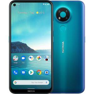 Nokia 3.4 64GB Fjord - 6.3' HD+ Punch Hole Display, RAM 3GB, Qualcomm® Snapdragon™ 460, Stylish and Durable, Dual SIM, 4000 mAh Battery