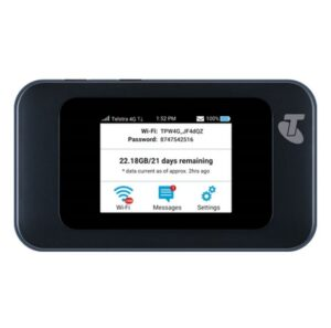 Telstra Pre-Paid 4GX Wi-Fi HotSpot Blue (MF985T) -  DEVICE, SIM + 20 GB Data - Connect up to 20 Wi-Fi devices, LCD touchscreen
