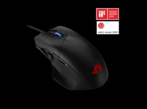 ASUS ROG CHAKRAM CORE Gaming Mouse 16000dpi USB2.0, Programmable Joystick, Adjustable Weight, Mappable Stealth Button, Aura Sync Lighting