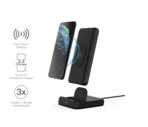 CYGNETT DUO 10K WIRELESS POWERBANK & CHARGING DOCK - BLACK - 18W FAST CHARGING FOR MOBILE DEVICES, Dual charging (USB-C and USB-A)