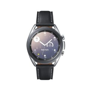 Samsung Galaxy Watch3 Bluetooth (41mm) Mystic Silver - 1.2' Super AMOLED Display,1.15GHz Dual Core CPU, Tizen OS,  8GB Memory,1GB RAM, 340mAh Battery