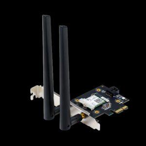ASUS PCE-AX3000 AX3000 Dual Band PCI-E WiFi 6 (802.11ax) Adapter, 160MHz, Bluetooth 5.0, WPA3, OFDMA, MU-MIMO (WIFI6)