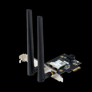 ASUS PCE-AX3000BULK AX3000 Dual Band PCI-E WiFi 6 (802.11ax) Adapter, 160MHz, Bluetooth 5.0, WPA3, OFDMA, MU-MIMO, Non-retail, MOQ 20 (WIFI6)
