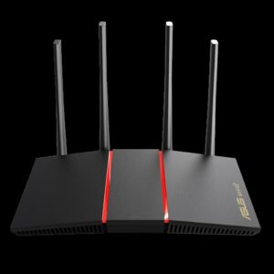ASUS RT-AX55 AX1800 Dual Band WiFi 6 (802.11ax) Router MU-MIMO OFDMA, AiProtection Classic, Beamforming, 4x Antennas QoS, For Large Homes
