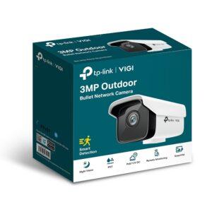 TP-Link VIGI 3MP VIGI C300HP-6 Outdoor Bullet Network Camera, 6mm Lens, Smart Detection, Smart IR, WDR, 3D DNR, Night Vision, H.265+, PoE/12V DC
