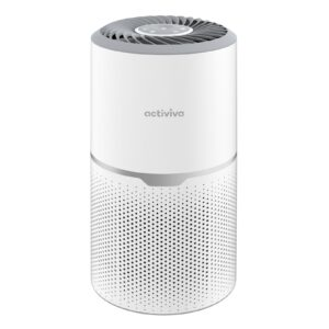 mbeat® activiva True HEPA Air Purifier, 50m3/h Fine Preliminary Filter Layer + H13 HEPA Filter + Activated Carbon Layer UV-C tube light