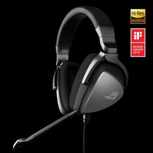 ASUS ROG DELTA CORE Headset, Hi-Res, 3.5mm, Non-RGB, D Shape Ear Cushion, Ear Controls, PC, PS4, Xbox One, Nintendo Switch and Mobile Devices