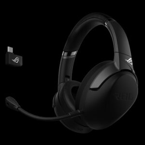 ASUS ROG STRIX GO 2.4 PC/PS4/Switch Wireless Gaming Headset, USB-C 2.4G, 40mm Drivers, AI-powered Noise-cancelling, Up To 25 Hours Battery Life
