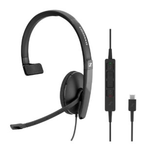 EPOS   Sennheiser ADAPT SC130 USB-C Wired monaural USB headset. Skype for Business certified and UC optimized.