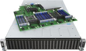 Intel 2U Rackmount Server, Xeon Silver 4216,(1/2),  64GB RAM, 4 x 960GB SSD (4/24) , LSI3108+BBU, 1300w PSU, 2 x 10GB, RMM, 3 Yr Warranty
