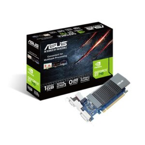 ASUS nVidia GT 710-SL-1GD5-BRK PCI Express Graphic Card, Fanless, 1xHDMI/1xDVI-D, 954 Boost, Non-RGB