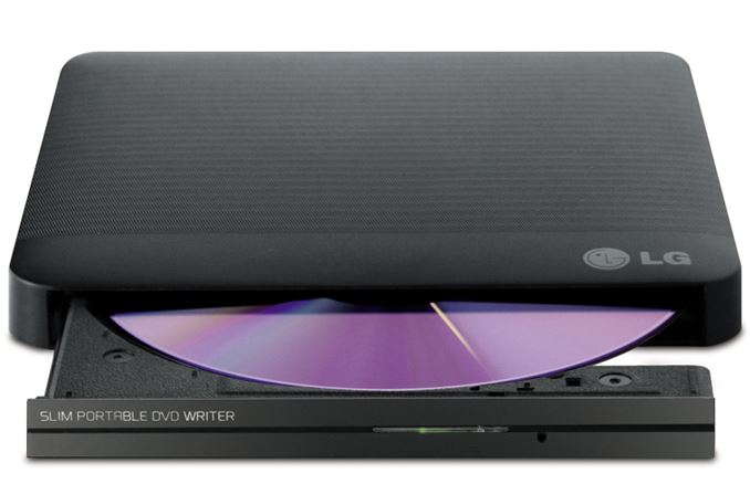 LG GP50NW40 Super-Multi Portable DVD Rewriter 8x DVD-R Writing Speed.TV Connectivity. M-DISC Support. Silent Play - Black
