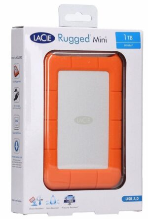 Seagate 1TB LaCie Rugged Mini Portable USB 3.0, USB-C Cable. External HDD LAC301558, 2 Years Warranty (LS)