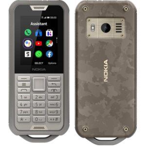 Nokia 800 4G Tough Sand 2.4' Screen,4GB Memory, 512 MB RAM,  2MP Rear Camera, IP68, drop protection, MIL-STD-810G compliant, 2100 mAh Battery