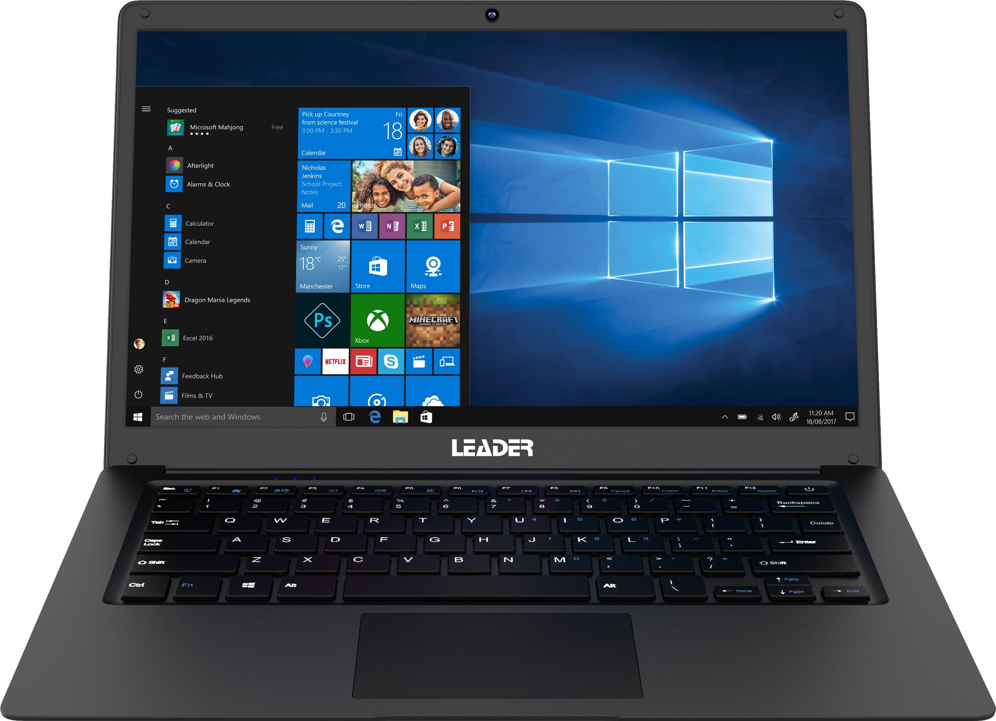 Leader Companion 409PRO Notebook, 14' Full HD, Celeron, 4GB, 64GB + 240GB SSD, Windows 10 Professional, 1 Year Onsite Warranty, Webcam, W10P
